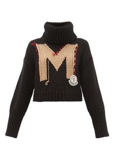 Moncler Logo-jacquard roll-neck chunky-knit sweater
