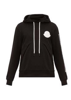 Moncler Logo-patch cotton-jersey hooded sweatshirt