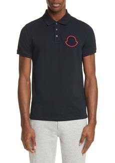 Moncler Logo Patch Short Sleeve Polo