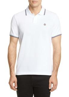 Moncler Logo Slim Fit Polo