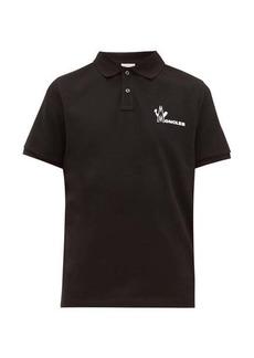 Moncler Logo-print cotton-piqué polo shirt