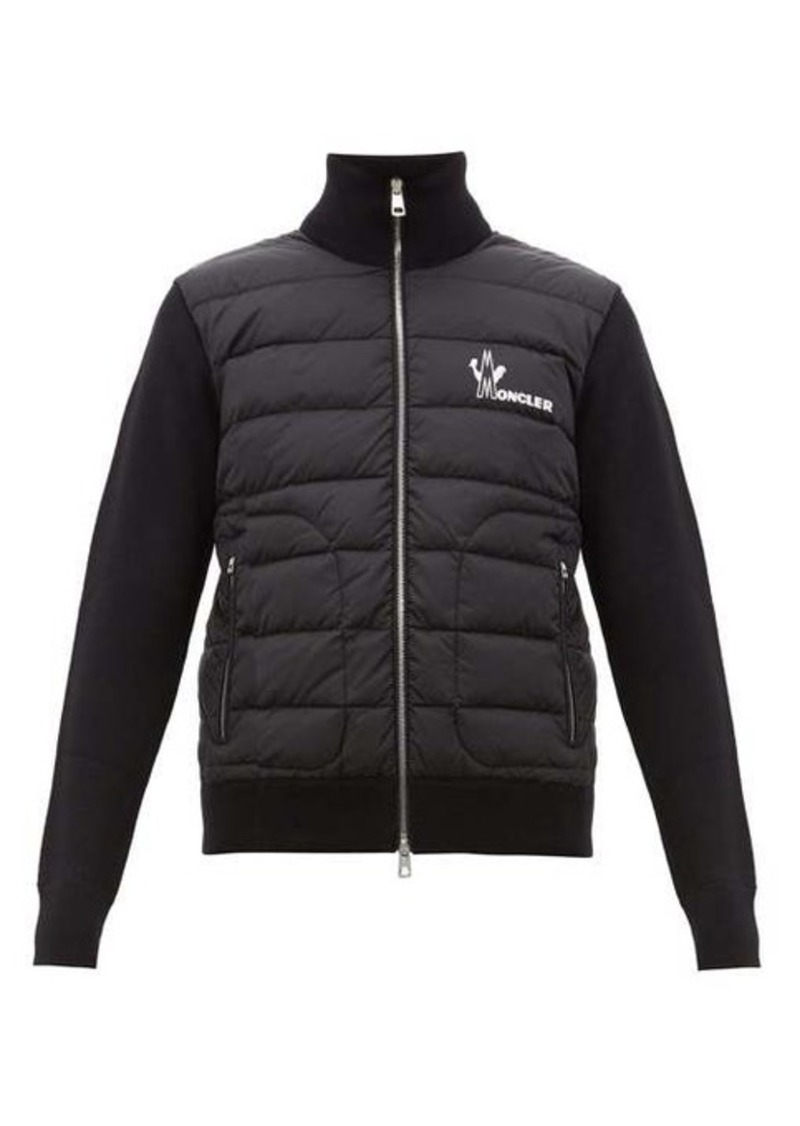 Moncler Logo-print quilted zip-up track top