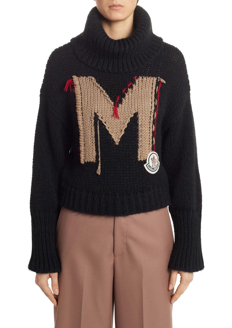 Moncler Logo Turtleneck Sweater