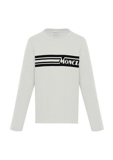 Moncler Long-Sleeve Logo T-Shirt  Size 4-6