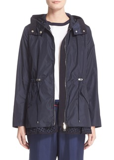 Moncler Lotus Water Resistant Peplum Raincoat