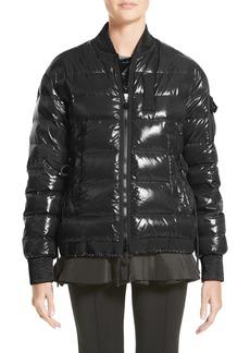 Moncler Lucy Peplum Down Puffer Jacket