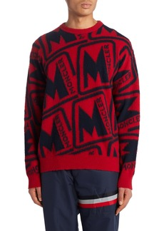 Moncler M Motif Crewneck Wool Sweater