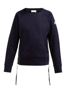 Moncler Maglia Girocollo zip-fastening cotton sweatshirt