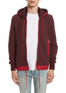 Moncler Maglia Knit Bomber with Removable Hood
