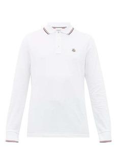 Moncler Logo-appliqué long-sleeve cotton polo shirt
