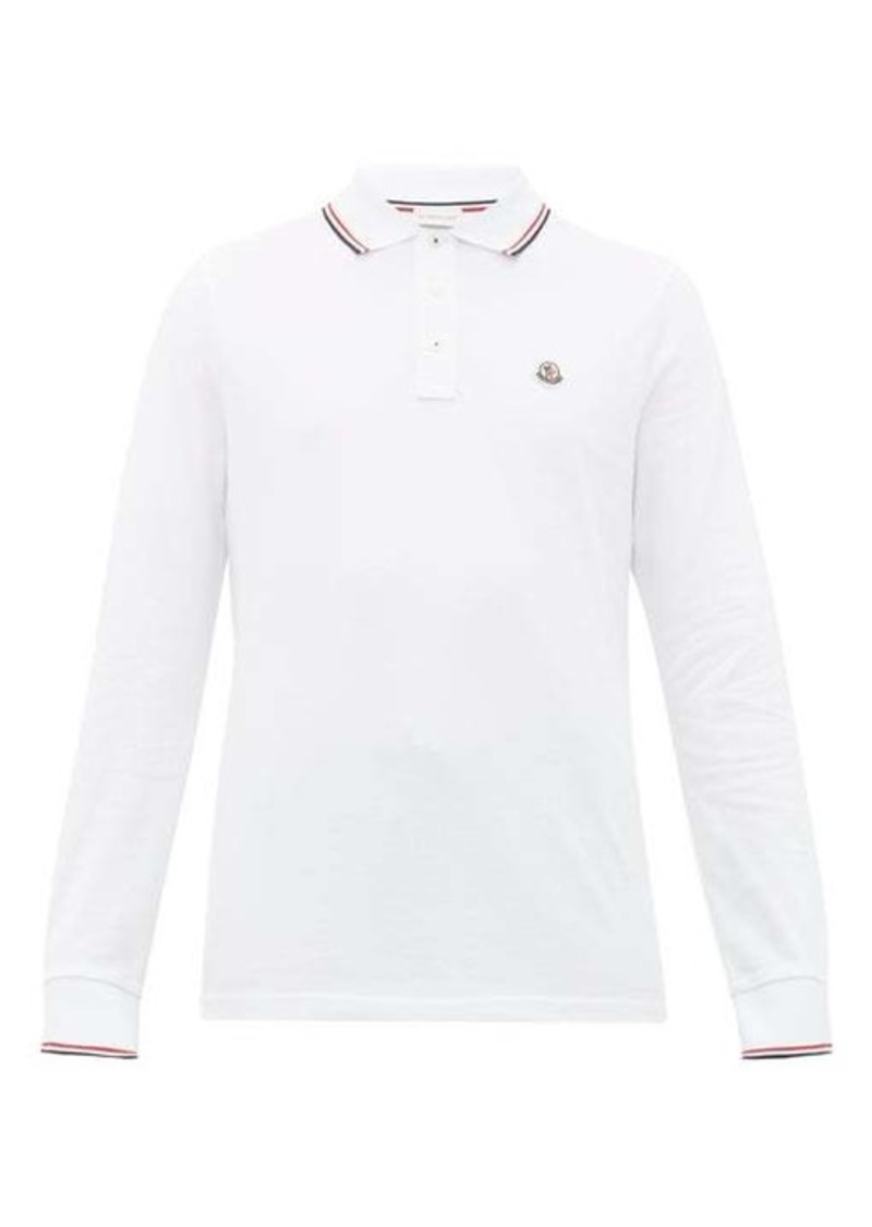 Moncler Logo-appliqué long-sleeve cotton polo shirt