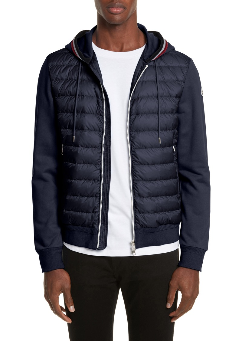 6c0a12b1a Moncler Moncler Maglia Mixed Media Down Knit Hooded Jacket