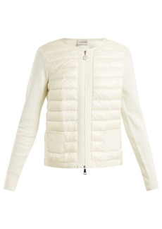 Moncler Jersey and quilted shell jacket