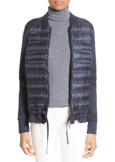 Moncler Maglia Quilted Down Front Tricot Bomber