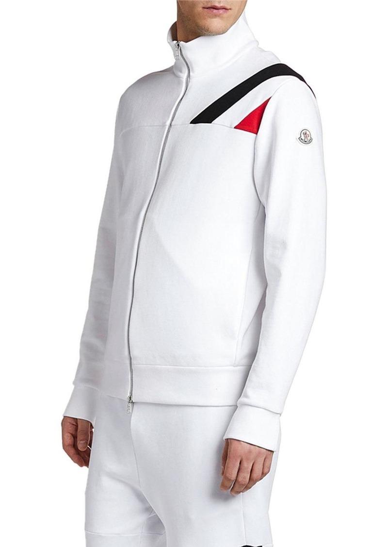 Moncler Men's Flag-Inset Zip-Front Track Jacket