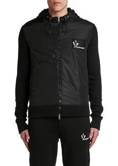 Moncler Men's Hooded Logo-Patch Zip-Front Hoodie