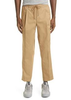 Moncler Men's Side Stripe Stretch Cotton Track Pants