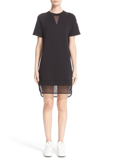 Moncler Mesh Hem T-Shirt Dress