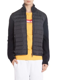 Moncler Mixed Media Down Jacket