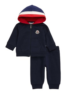 Moncler Molleton Full Zip Hoodie & Sweatpants Set (Baby)