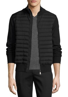 Moncler Moncler Zip-Front Puffer Cardigan  Black