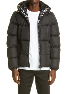 Moncler Montcla Logo Embroidered Quilted Down Jacket