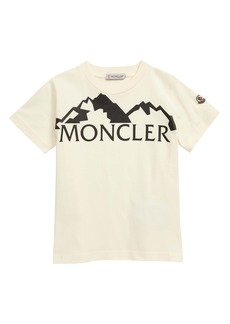 Moncler Mountain Logo Graphic Tee (Little Boy & Big Boy)