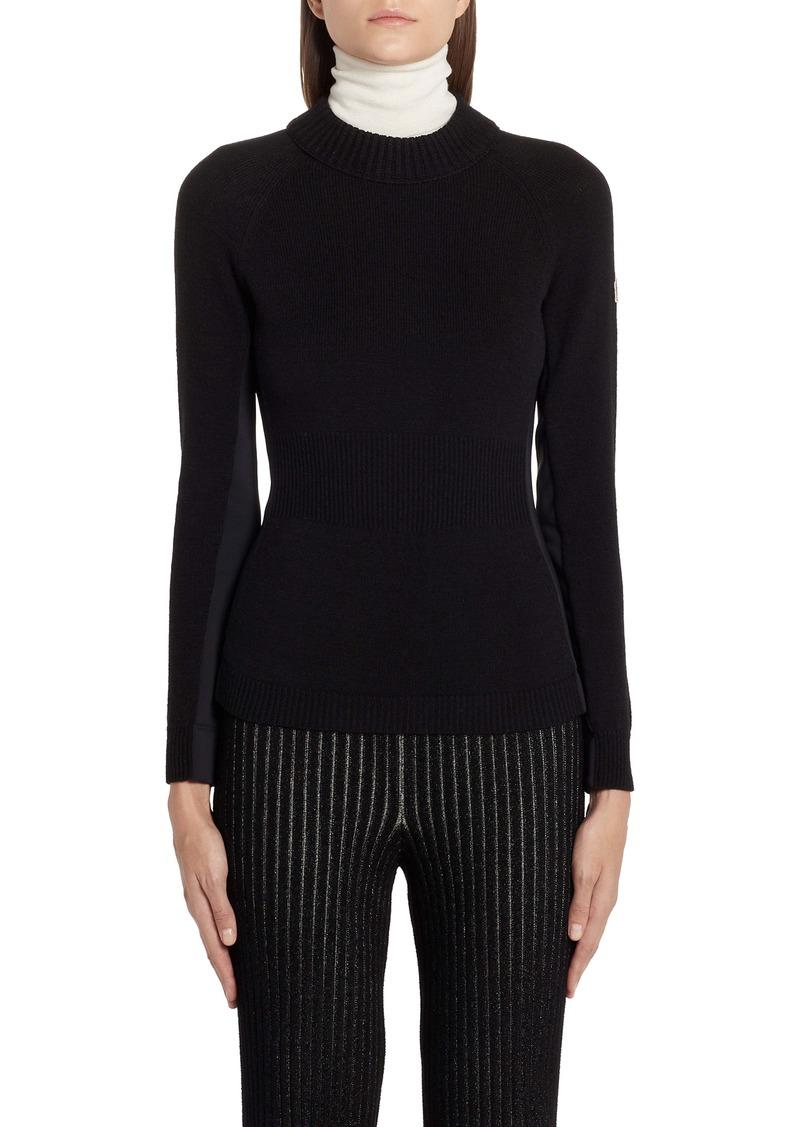 Moncler Multi Contrast Wool Blend Turtleneck Sweater