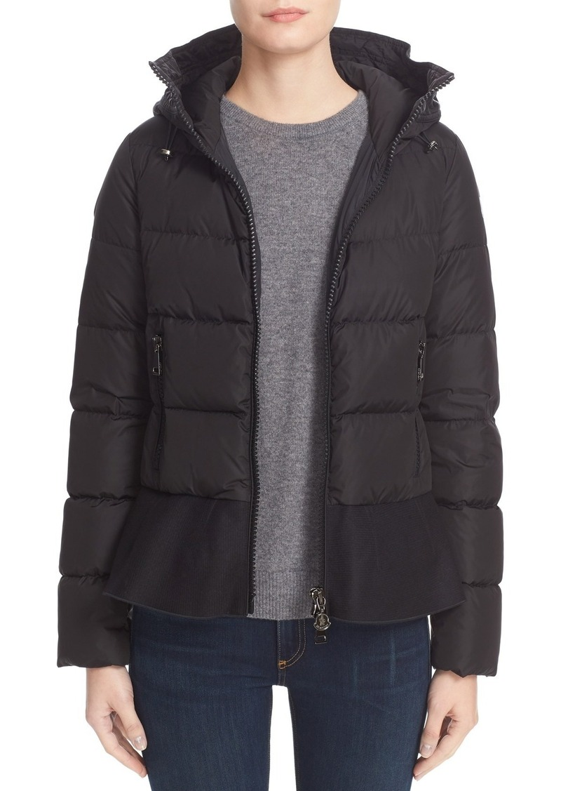 aba7040be Nesea Peplum Hem Down Puffer Jacket