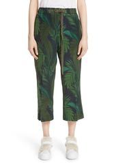 Moncler moncler palm print crop silk pants abvba080b1e a