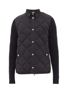 Moncler Panelled quilted-down shell and wool cardigan