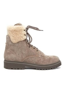 Moncler Patty shearling-lined suede hiking boots