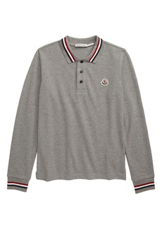 Moncler Piquet Long Sleeve Polo (Little Boy & Big Boy)