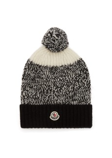 Moncler Pompom wool beanie hat