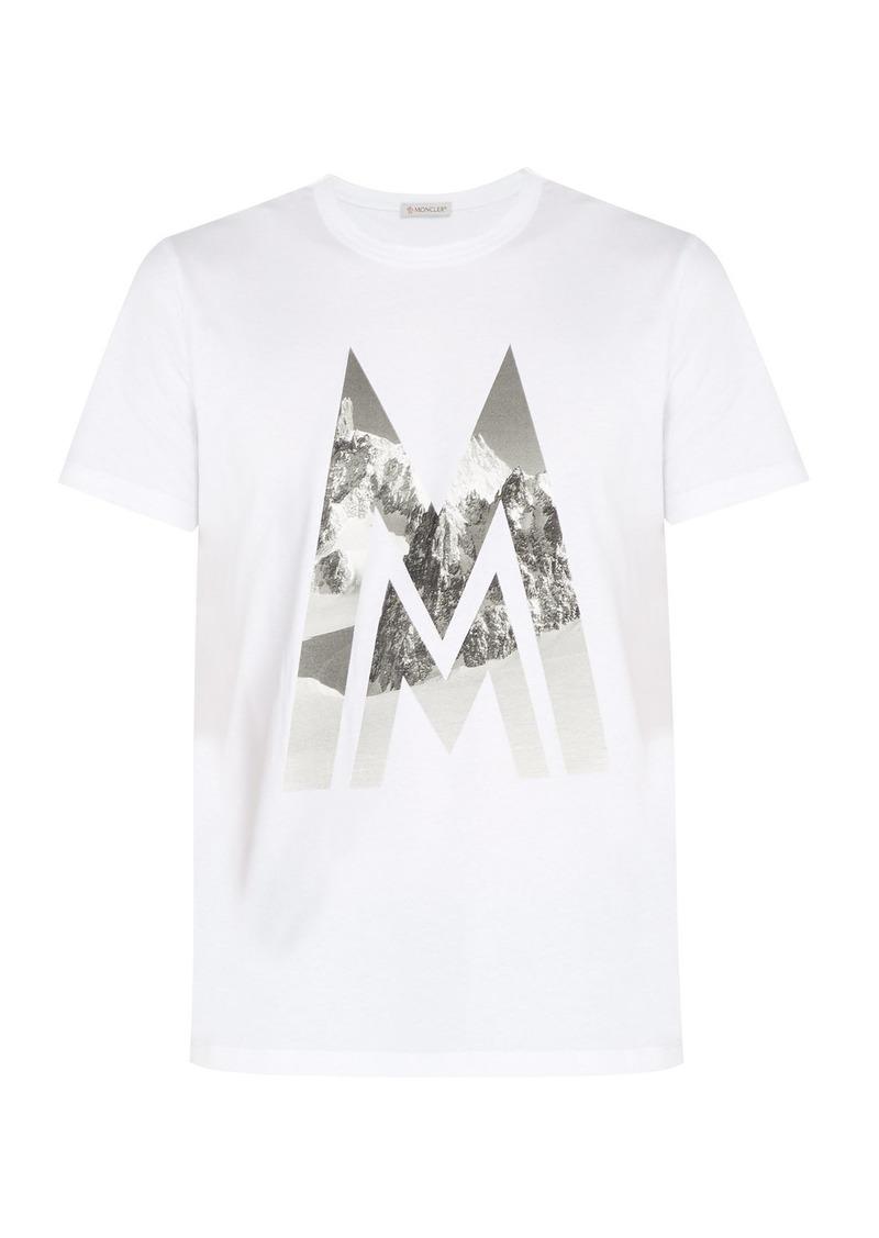 88bcb9be1c3d Moncler Moncler Printed cotton T-shirt