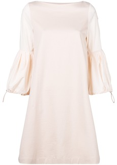 Moncler puff sleeve shift dress - Pink & Purple