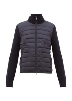 Moncler Quilted and knitted cardigan