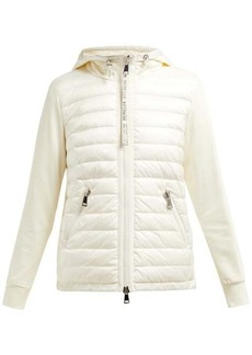 Moncler Quilted-down and cotton-jersey jacket