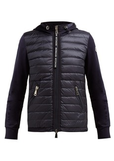 6f9aa9b5d8f Moncler Quilted-down and cotton-jersey jacket