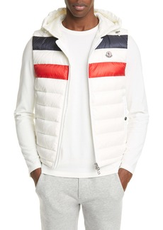 Moncler Quilted Down Hooded Vest