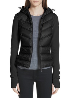 Moncler Quilted Front Fleece Jacket