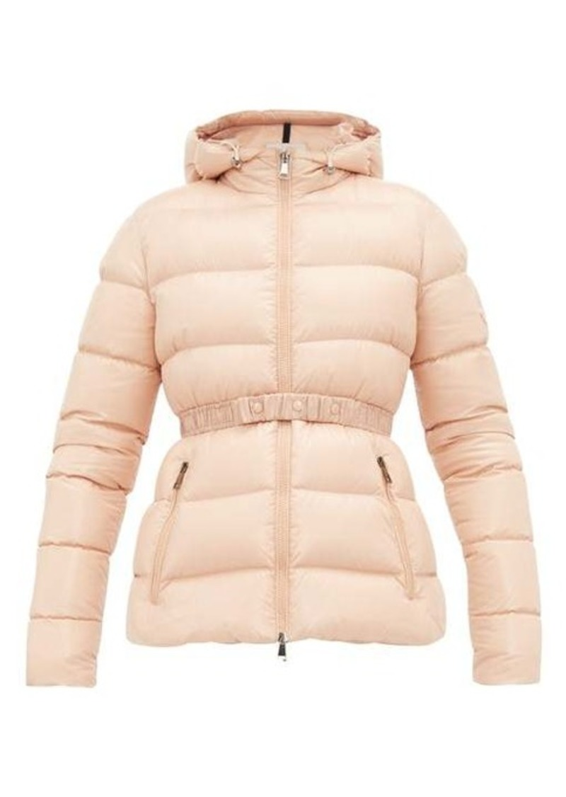 Moncler Rhin lacquered quilted-down jacket