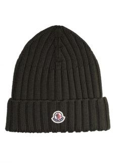 Moncler Rib Virgin Wool Beanie