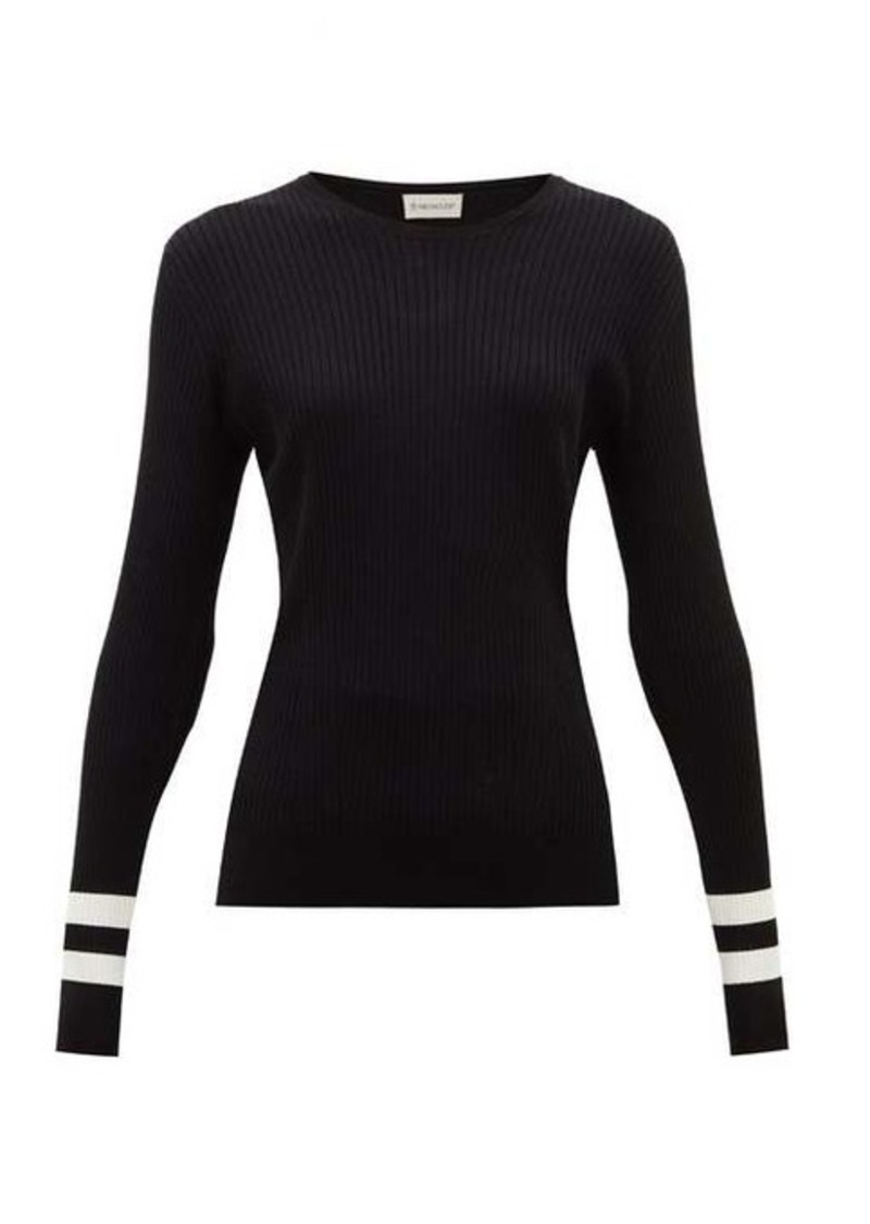 Moncler Ribbed intarsia-knit sweater