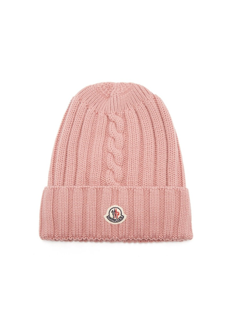 Moncler Moncler Ribbed-knit wool beanie hat  1a31774d4b4