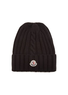 Moncler Ribbed-knit wool beanie hat