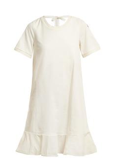 Moncler Round-neck cotton-jersey dress