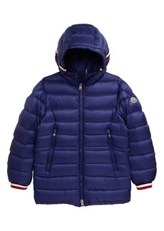 Moncler Roussilion Water Resistant Hooded Down Jacket (Little Boy & Big Boy)