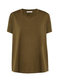 Moncler Ruffle-trimmed cotton T-shirt