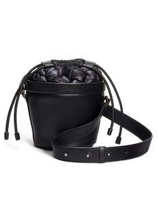 Moncler Seaux Seaux Leather Bucket Bag
